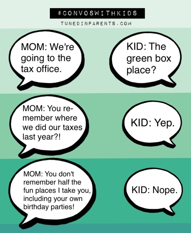 Tuned In Parents - Convos With Kids - Taxes and Birthday Parties