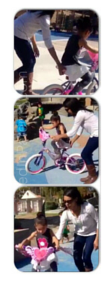 Tuned In Parents - two-wheel bike at 5yrs